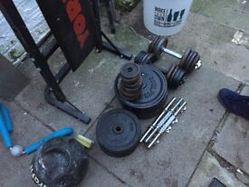 Large amount of weights And boxing atuff