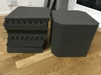 High Quality Acoustic foam 10 panels and 2 Bass Traps