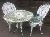 Cast Patio Set / Bistro Set / Garden Table & 2 Chairs- Can Deliver