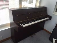 kemble studio upright piano, mahogany colour, very good condition, buyer to collect.