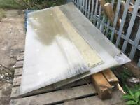 4 off USED 2.5m x 700mm ROOFING SHEETS TWINWALL POLY CARBONATE - SLOUGH