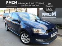 VOLKSWAGEN POLO 2013 1.2TDI MATCH 5 DOOR - LOW £20 TAX - LONG MOT - S.H - corsa fiesta clio 2013