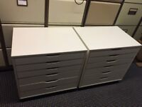 One set of IKEA drawers 67cm x 66cm on casters all assembled , still selling for £99 have outgrown