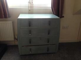 Chest of draws vintage blue/green