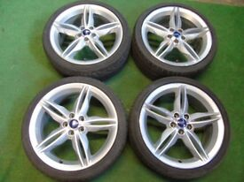 "FORD KUGA, MONDEO, GALAXY, FOCUS, TRANSIT CONNECT C-MAX S-MAX 19"" ALLOY WHEELS"