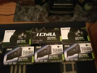 3x 1070 ti graphics cards, wooden frame, z270P MOBO & 750W EVGA PSU