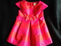 JASPER CONRAN BABY GIRLS RUBY RED DRESS 6-9 MONTHS.
