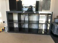 Kallax 8 cube storage unit dark grey IKEA