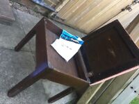 Vintage 1940;s piano stool/ lift up lid. Music sheet storage