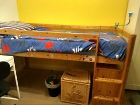 Mid height bed with good mattress