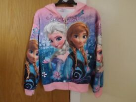 Girls Frozen Hoody Age 8