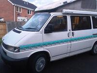 VW T4 Campervan Transporter 2.4 Diesel Very Good Condition Reimo pop top 4 berth fridge heater