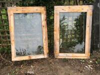 2 opening wooden windows for sale