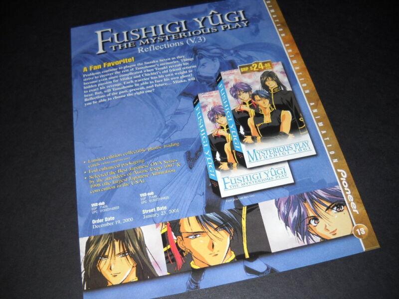 FUSHIGI YUGI A Fan Favorite.... Vintage ANIME Promo Ad mint condition