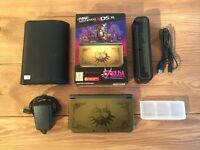 """New"" Nintendo 3DS XL Zelda Majora's Mask Console w/ 6 Games, Case, Charger [MINT RARE]"