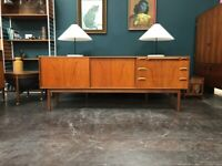 Rare and Slender Sideboard by McIntosh of Kirkcaldy. Retro Vintage Mid Century 1960s. Danish Style