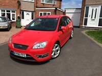 Ford Focus ST-3, 56 plate in RED 3 Door, 1 Previous Owner, Low Miles