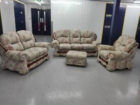 3 seater + 2 seater + chair + footstool in mint condition / free delivery