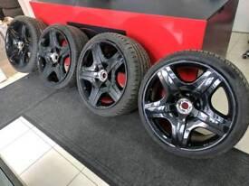 Genuine bentley 5x112 alloy wheels 19 inch gloss black golf audi seat leon vw passat scirocco