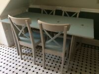 Extendable Dining Table plus Four Chairs - Upcycled