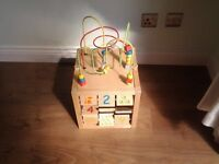 Early Learning Wooden Cube