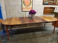 Swedish Vintage Mid Century Rosewood Extending Table by Troeds
