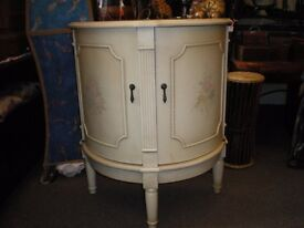 BOW FRONTED FRENCH STYLE CABINET