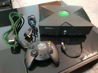 Original Xbox Black Console with 1 Controller
