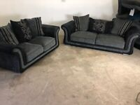 Grey Harvey's 3&2 seater sofas, couches, furniture 🚚🚛🚚