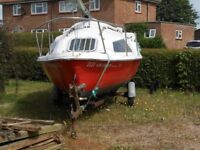17 foot skipper two berth day trip boat / fishing boat in very good condition.