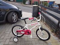 """Hello Kitty bicycle, 16"""" from 4 to 7 years old, only used a few times."""