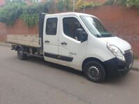Vauxhall, MOVANO, Flatbed, 2014, Dropside, Crew cab pickup Truck Manual, 2298 (cc)