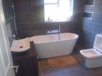 A complete bathroom installation service, completed to a high standard to customer's specification.