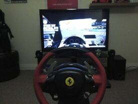 Xbox One Ferrari 458 Spider Thrustmaster steering wheel and pedals