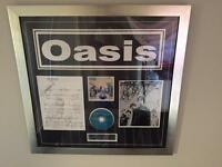 Oasis - Live Forever - signed by original line-up