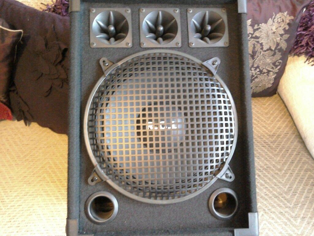 P.A speakers. inc accessories. Total bargain!