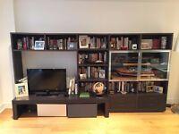 Poliform Wall System bookshelf and TV unit,