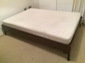DOUBLE BED FRAME AND MATRESS GOOD CONDITION!!
