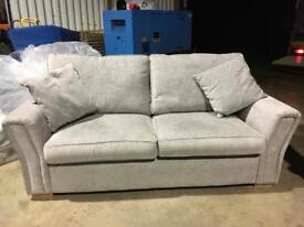 Sofa - 2 Seater, grey, fabric, plus 2 matching cushions, excellent condition
