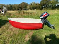 Cute little tender dinghy boat with Yamaha outboard