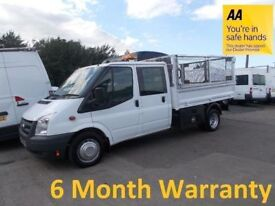 Ford Transit 350 2.4 TDCi 115 LWB Crew Cab Tipper**Lease Co Direct**ONLY 59,000 MILES***