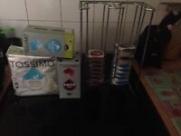 Tassimo pods and holder/stand. Various flavour pods.