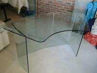 Glass study desk. John Lewis item.