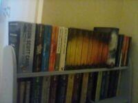 Bookshelf. Blue. Medium height.