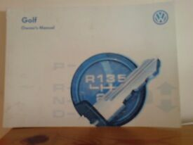 VW Golf & Jetta Haynes manual and manual that comes with the car
