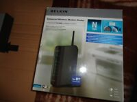 belkin router for computer all boxed