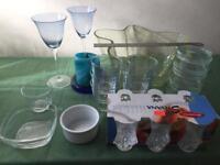 Various glasswares