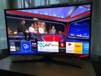 """Samsung Curved 40"""" full hd smart led tv.Excellent condition,hardly used. £270 NO OFFERS.CAN DELIVER"""