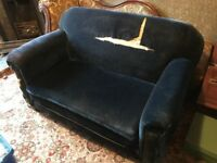 2 x Early 20th Century 2 Seater Drop-Arm Sofa's