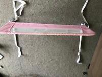Lindam pink bed guard rail